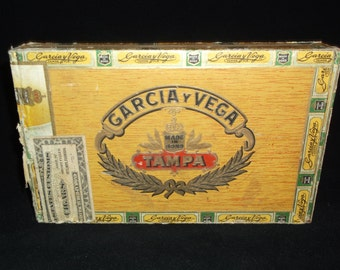 Garcia Y Vega Vintage Wood Cigar Box / Tampa, Florida
