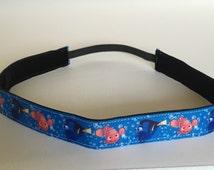 Finding Nemo inspired NON SLIP/No slip Headband