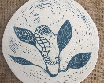 Seahorse serving plate