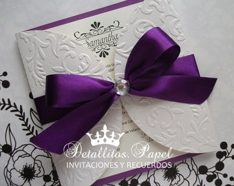 Wedding Invitations, Wedding Invitation Handmade, Quinceanera Invitation Handmade, Gatefold Invitations, Wedding Invitations Handmade