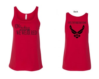 Air Force Red Friday Tank