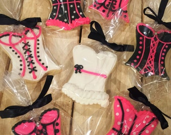 Corset Decorated Sugar Cookies