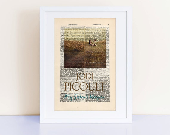 My Sister's Keeper by Jodi Picoult Print on an antique page, book cover art