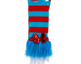 Dr. Seuss Cat In The Hat Thing 1 & Thing 2 Stripey Fuzzy Glovettes Party Favor Decor - 433101