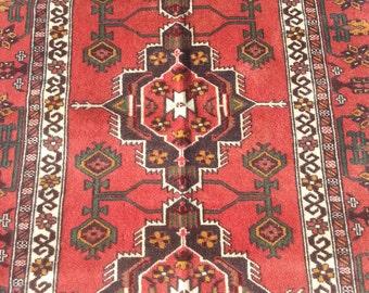 Size:6 ft by 3.10 ft Handmade Rug Afghan Tribal Vintage Baluch Carpet
