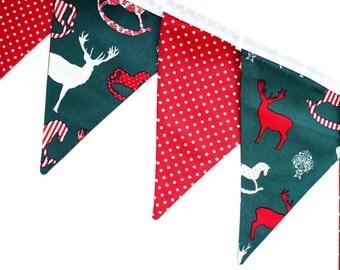 SALE - Christmas bunting - Christmas garland - Christmas decorations - Christmas party decorations - Xmas decorations - Christmas banner