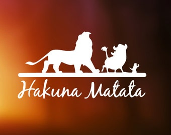 Disney's The Lion King Hakuna Matata (No Worries) Decal for Cars, YETI Cups, Laptops, and More!