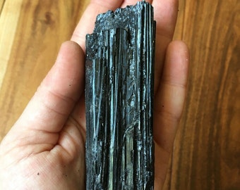 black tourmaline crystal - black tourmaline raw - black tourmaline point - raw black tourmaline - A grade black tourmaline cluster - protect