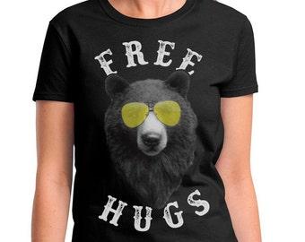 Free Bear Hugs women's T-shirt