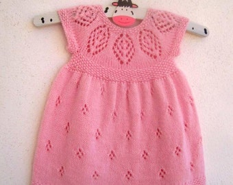 Isla Dress - Knitting Pattern - Baby girl to age 6  - Instant Download PDF