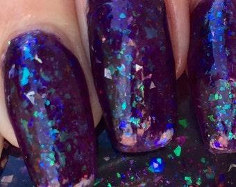 Hyper Purple Particle Swarm - purple jelly glitter nail polish