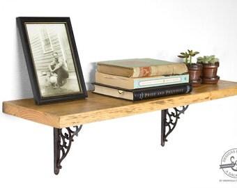 Hanging Book Shelf reclaimed wood shelf | etsy