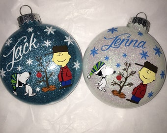 Personalized Charlie Brown Christmas Ornament
