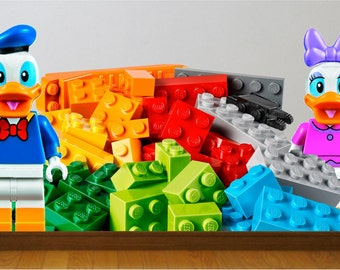 Lego  Wall decal for the nursery (stickers) great for the kids room.
