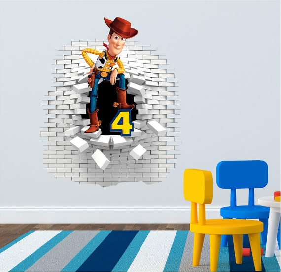Toy Story 3d Wall Light : 3D Toy Story Wall decal stickers great for the kids by ArtogText