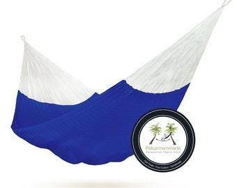 Navy Hammock - 100% Hand Woven - Pelican Hammocks