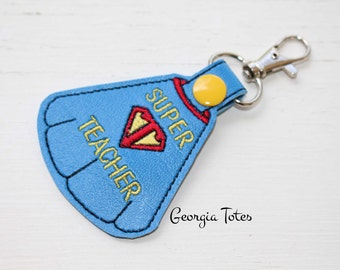 End of Year Teacher Gift, Teacher Key Chain, Teacher Key Fob, Super Teacher Gift, Super Teacher Key Chain, Gift from Student, Key Chain