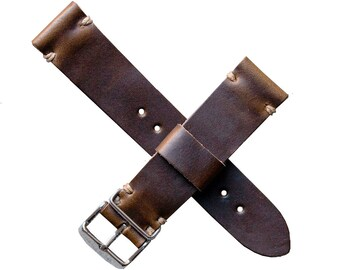 Handmade Horween Chromexcel Leather Watch Strap (18, 20, or 22 MM in stock)