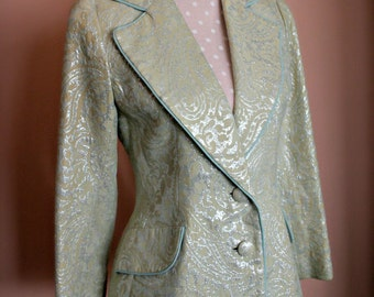 Vintage 1950's/1960's Lilli Ann Brocade Suit Jacket