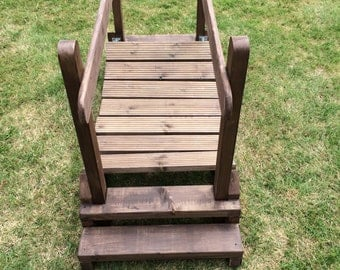 wooden wobbly bridge for toddlers