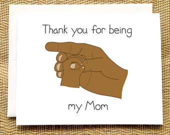 Birthday Card from Baby - Thank You for Being My Dad Happy Birthday Card from Newborn from Baby Birthday Card for Mom Black African American