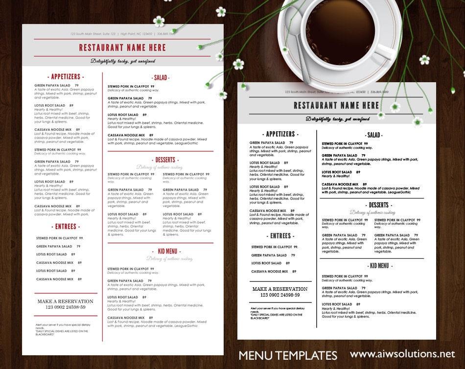 Modelli di menu modello stampabile menu ristorante men for Modello di paese francese