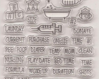 """Clear stamps """"children"""""""