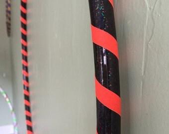 Halloween 30 inch 1/2 PE Hula Hoop, Handmade Polyethylene Beginner Dance Hoop 30 inch Diameter, Practice Exercise