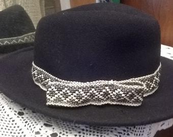 Black color felt hats