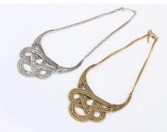 chunky luxury choker statement necklace