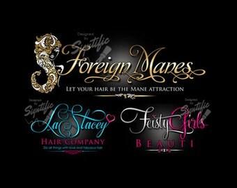 Hair extension logo hair business logo silhouette logo hair business logo logo design custom logo design logo logos custom pmusecretfo Image collections