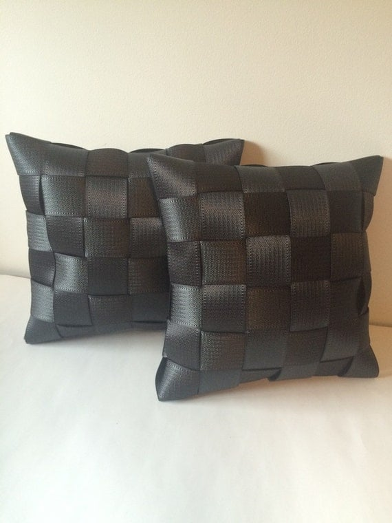 seat belt pillows charcoal set of two