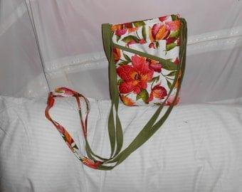 Quilted, cross body,zippered handbag