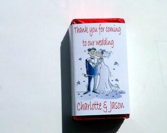 Belgian Chocolate 25g Wedding Favours X100