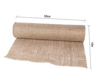 10m x 50cm Burlap Table Runner, Hessian Wedding Event Natural table runner decoration
