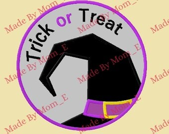 Trick or Treat Witch Hat Patch