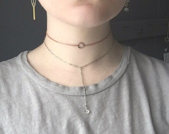 Rose Gold Colored Chain Choker