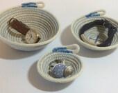 Rope Bowls Set of 3 - Blue