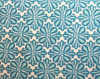 Contempo Studios SOUL BLOSSOM (BLUE) 100% Cotton Premium Quilt Fabric - sold by 1/2 yard