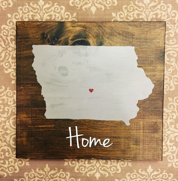 Iowa state sign iowa sign hawkeye decor iowa home for Iowa hawkeye decor