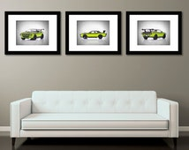 Discount set of 3 Dodge Challenger SRT photo print,boys room decor,fast and furious,fast and furious decor,car room decor,man of cave