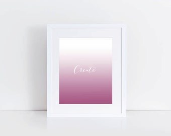 Create Pink Ombre Digital Print