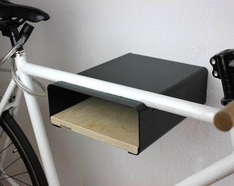 "Bikeshelf ""velo-stop"" black / birch"