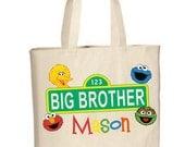 Big Brother or Big Sister Sesame Street Tote