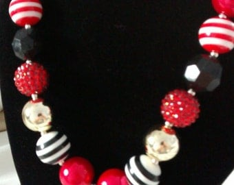 GIRLS football 49ers chunky necklace