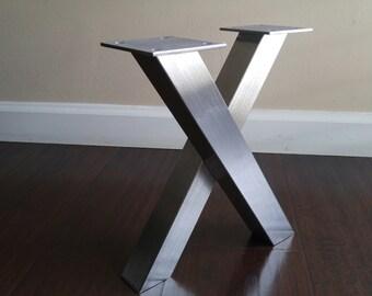 Set of 2 X-Frame table legs