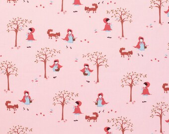A Walk in the Woods Girl on Pink Aneela Hoey for Moda Fat Quarter OOP HTF