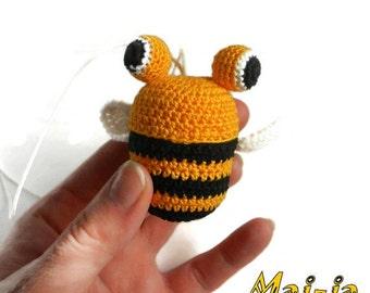 Amigurumi *Crochet bee* animals **Crochet  Toy *Gift for baby * doll waldorf *montessori  doll *organic and eco-friendly * Baby toy