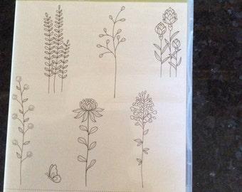 "Stampin Up ""Flowering Fields"" Stamp Set"