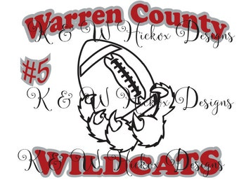 Wildcats Football SVG - DXF For Silhouette - Cricut Download